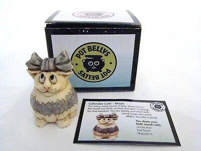 Harmony Kingdom Pot Bellys Maya the cat - Item PBCMAY May Calendar Cat New