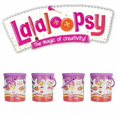 "2 Lalaloopsy Minis Dolls Surprise **PURPLE MYSTERY PAINT CANS** /""SERIES 2/"" HTF"