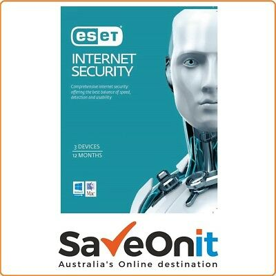 Eset Internet Security 3 Device PC 1 year License key 2020