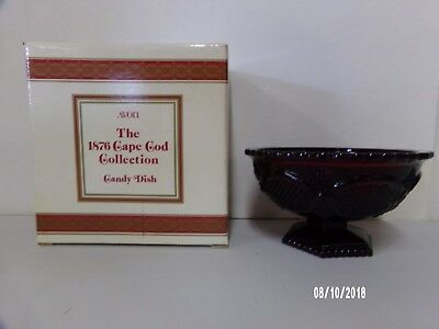 Avon Cape Cod Ruby Red Candy Dish With Original Box