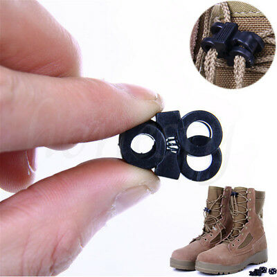 10pcs Sports Shoelace Shoe Lace Stopper Rope Clamp Buckle Paracord Cord Lock