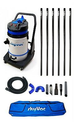 SkyVac Commercial - Wet & Dry Vacuum Gutter Cleaning Machine - 6 Poles (9m/30ft)