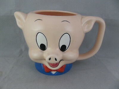 Vintage Applause 1989 Looney Toons Porky Pig Collectible Mug