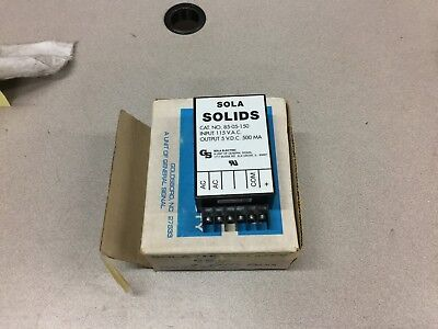 New In Box Sola Solids Power Supply 115Vac Input 5Vdc Output 500Ma   85-05-150