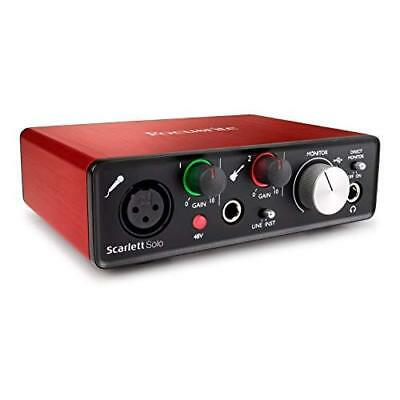Focusrite Audio Interface Scarlett Solo [2nd Gen] 24bit/192kHz 2in/2out Japan