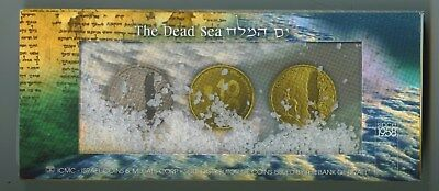 2011 Israel 2 Coin 1 And 2 Nsi Sterling Silver Dead Sea Set In Proof