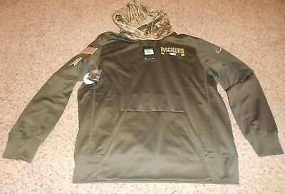 size 40 4e991 89717 NEW GREEN BAY Packers 2017 Salute to Service Therma Hoodie ...