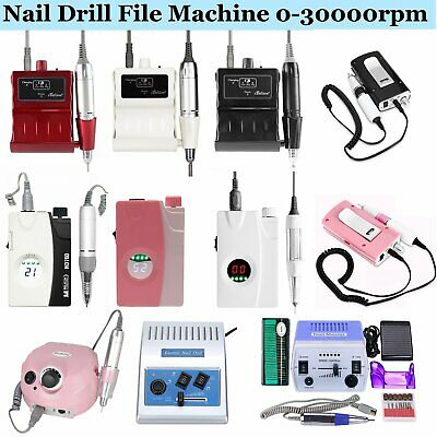 Electric Nail Drill File Rechargeable Cordless Manicure Machine Pedicure Tool US
