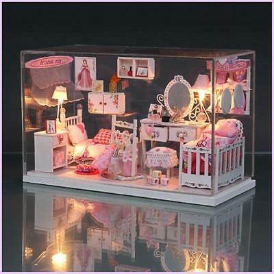 Princess Doll House Furniture DIY Miniature Dust Cover Dollhouse Christmas Gifts
