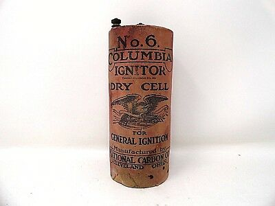 Atq - Columbia Ignitor Battery - Early 1900's Dry Cell - No. 6