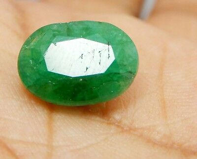 4.20 Ct Natural Oval Cut Colombian Emerald Loose Gemstone K225 GGL Certified