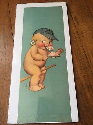 Original KEWPIE PIXIE BABY Hendler/'s Ice Cream Art Cardboard Sign 1920s NOS