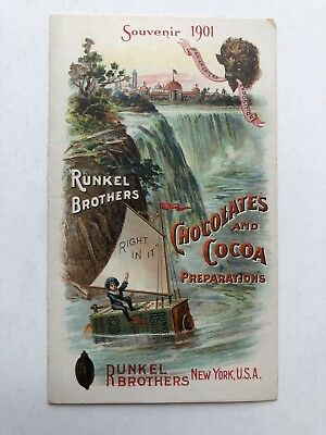 Vintage 1901 Runkle Brothers Chocolates Ad From Pan American Exposition
