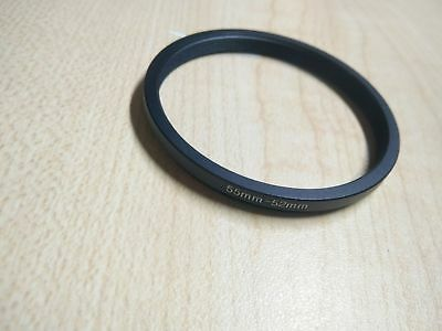 NEW 52mm to 55mm 52-55mm Step-up Metal Filter Adapter Ring Black 52-55