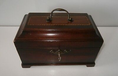Exceptional Georgian c1750-60 Chippendale Period Tea Caddy Original & Complete