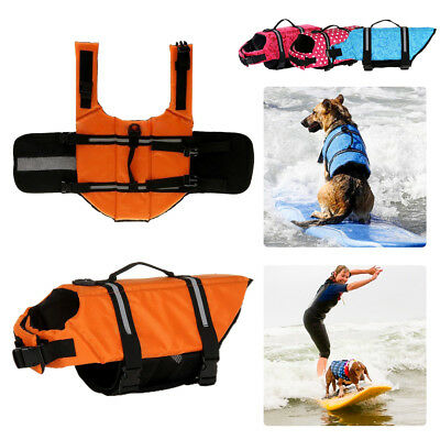 Dog Life Jacket Puppy Surf Saver Coat Pet Safety Clothes Swimming Preserver