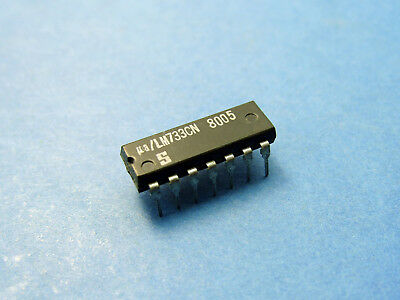 LM733CN, Differential Video Amplifier IC, DIP-14, NEW, Signetics - 1pcs