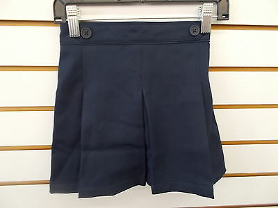 Girls Navy School Uniform  2 Buttons at Waist Skort Size 5
