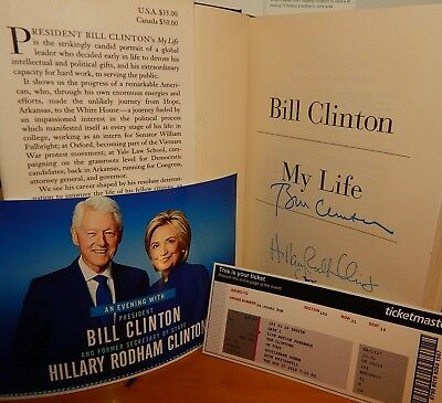 """HOT ITEM! Only $159 Autographed Book """"My Life"""" SIGNED by BILL & HILLARY CLINTON"""