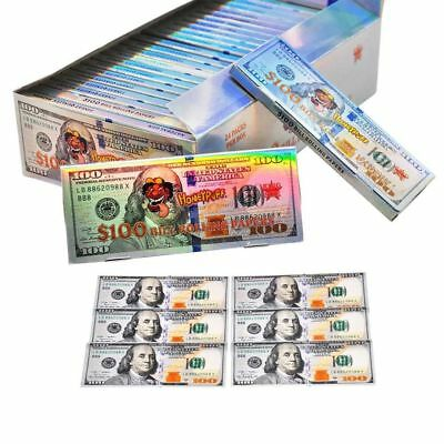 24Piece $100 Dollar Bill Rolling Papers 1 Wallet Creative Dollar Cigarette Paper