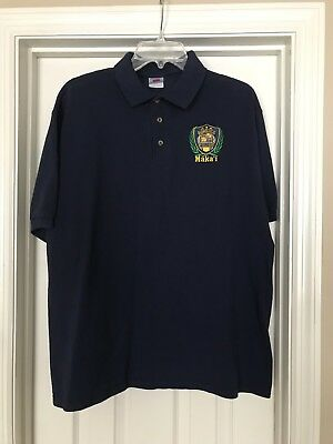 Honolulu Police collared shirt with police insignia size Large navy blue, New.