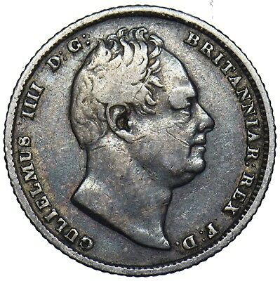 1831 Sixpence - William Iv British Silver Coin