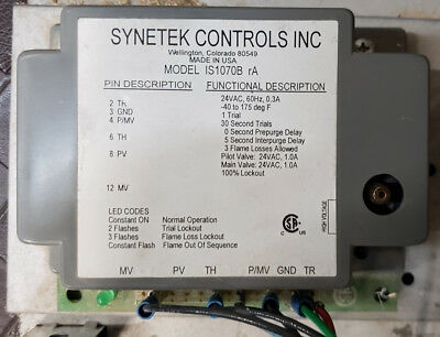 Synetek IS1070b Fire Place Ignition Box - Used