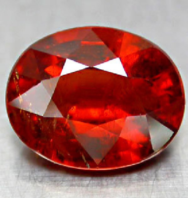 Aaa - Spessartite Garnet Ct 2.40 Oval Cut Origin Namibia Africa Very Good