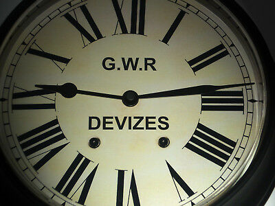 Great Western Railway, GWR Victorian Style Waiting Room Clock, Devizes Station.