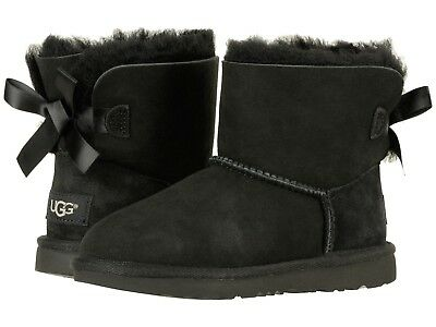 a6adb725184 UGG KIDS MINI Bailey Bow II 2 chestnut suede boots 1017397K NEW With ...