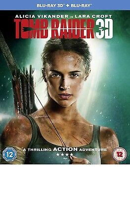 TOMB RAIDER (2018) 3D + 2D Blu-Ray with slipcover BRAND NEW Free Ship