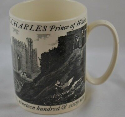 Wedgwood Mug by Carl Toms Investiture of H.R.H. Charles Prince of Wales 1969