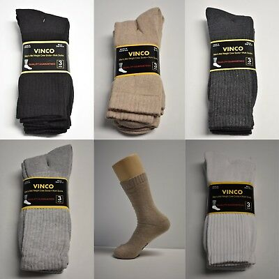 3-6-12 Pair Mid-Weight Athletic Sports Cotton Crew Work Socks Mens Size 10-13