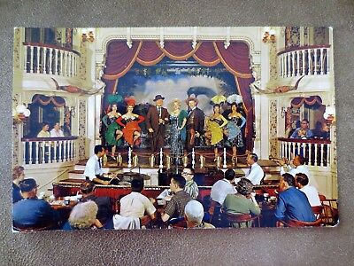 1950s Golden Horseshoe Revue Frontier Land Disneyland CA Postcard Unposted