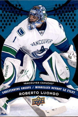 Roberto Luongo 2009 10 Ud Black Diamond Horizontal Mint Sp Canucks