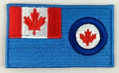 Canada Royal Canadian Air Force Ensign Flag Patch Embroidered Iron On Applique