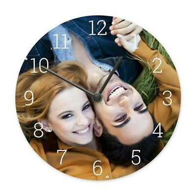 Personalised Custom MDF Wall Clock Any Photo/Logo/Text/Image LASER CUT MDF