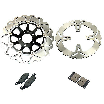 Front Rear Brake Discs Rotors and Pads for Suzuki GS500F 04-10GS 500 E K 96-03