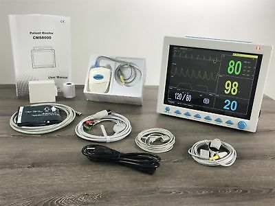 CO2 Capnography ICU Patient Monitor ECG NIBP SPO2 RESP TEMP Vital Signs Monitor