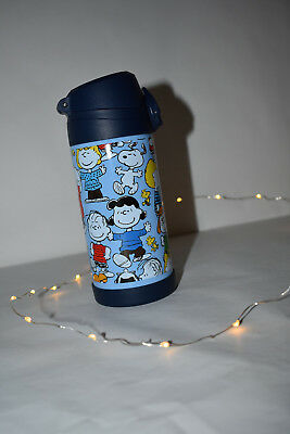 New Pottery Barn Kids Snoopy Peanuts Water Bottle 12oz Insulated thermos