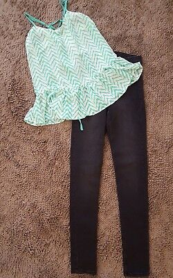 Divided H&M*Women's Jeggings+Chevron Top*Size 4/Small*NWT
