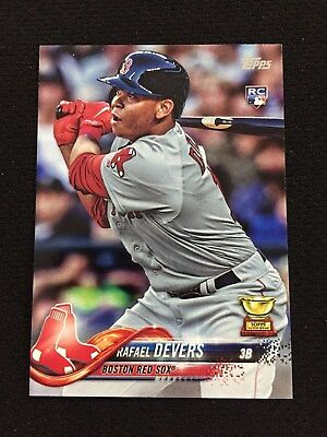 Rafael Devers Rookie Topps 2018 Boston Red Sox Rc Baseball Card