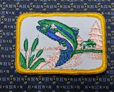 "BASS FISHING (GREEN) Iron or Sew on Patch 3""X2"""