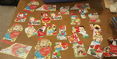 Vintage Die Cut Valentine Cards LOT of 25 ...