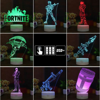 Battle Royale Game 3D LED Night Light Action Figure Remote Xmas USB Lamp Gifts
