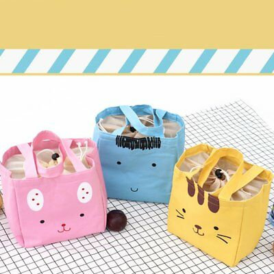 Animal Canvas Bag Ice Pack Oxford Cloth Waterproof Portable Insulation Bag EA