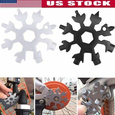 Snowflake Shape Multi Tool Snow Flake 18-1 Steel Flat Cross Household Hand Tool
