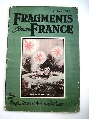 """1918 """"Fragments From France"""" Part Six Booklet by Capt. Bruce Bairnsfather *"""
