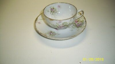 Antique Theodore Haviland Limoges France Tea Cup Saucer Patent Applied For 1903