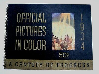 """Gorgeous 1934 """"Original Pictures in Color"""" for """"A Century of Progress Expo.""""  *"""